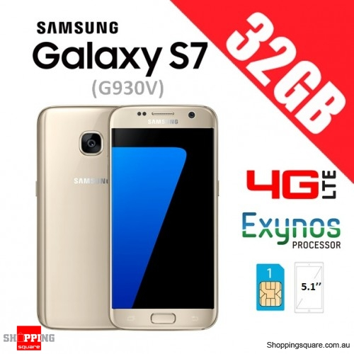 Samsung Galaxy S7 G930V 4G LTE 32GB Unlocked Smart Phone Gold - Refurbished