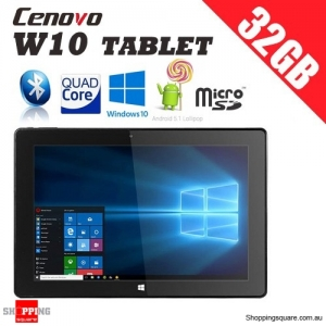 Cenovo W10 10.1 Inch Quad Core  Intel Z8350 1.92GHz 2G RAM 32G ROM Dual Boot Tablet