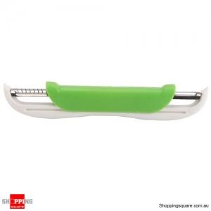 Multifunctional Kitchen Double Sided Vegetable Fruit Swivel Peeler Slicer Grater Tool Green Colour