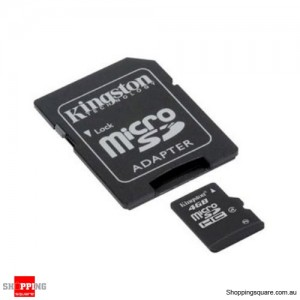 Kingston microSDHC 4GB Class 4 with Adapter Micro SD SDHC TF Memory Card