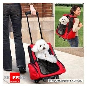Deluxe Rolling Backpack Pet Carrier - Stroller