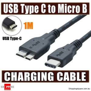 USB 3.1 Type C Male to USB 3.0 Micro B Charging Sync Cable Adapter for Hard Disk Samsung S5