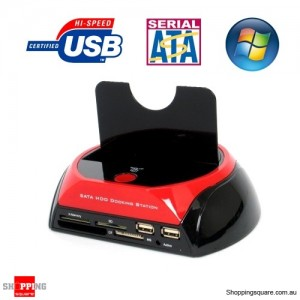 SATA HDD Docking Station with Card Reader+Hub