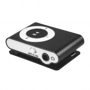 Portable Clip MP3 Player with Mini USB Port and Micro SD Card Slot - Black Colour