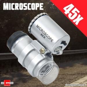 45x Mini Pocket Illuminated LED Microscope