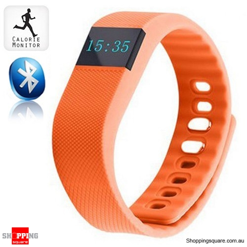 TW64 Bluetooth Sports Fitness Tracker Smart Wristband Watch for Android iphone Orange Colour