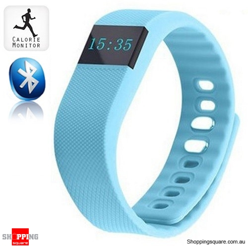 TW64 Bluetooth Sports Fitness Tracker Smart Wristband Watch for Android iphone Light Blue Colour