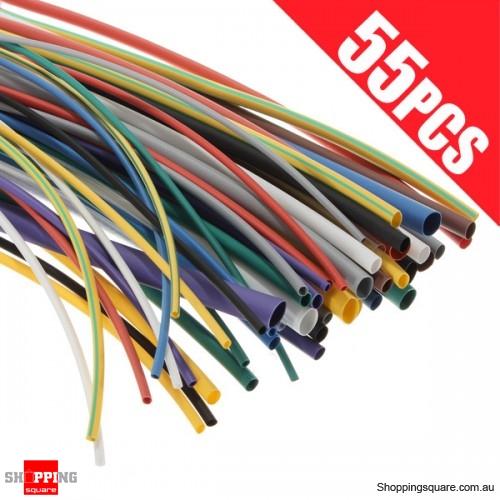 Heat Shrink Shrinking Tubing Tube Wire Wrap Cable Sleeve Kit Set - on