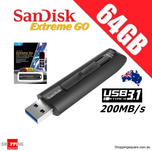 SanDisk Extreme Go 64GB USB 3.1 Flash Drive 200R/150W