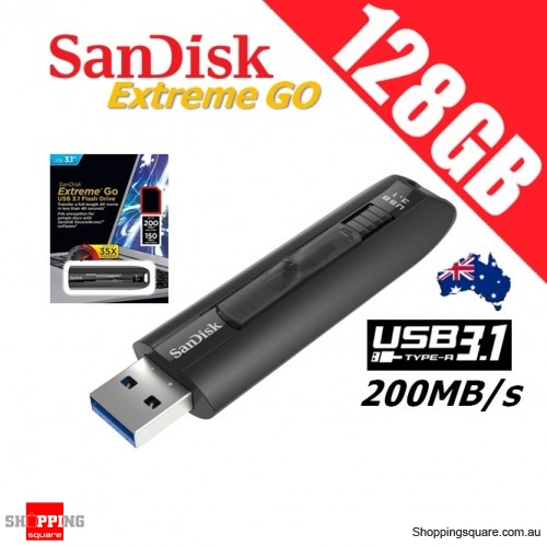SanDisk Extreme Go 128GB USB 3.1 Flash Drive 200R/150W