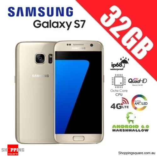 Samsung Galaxy S7 G930 4G LTE Single Sim 32GB Smart Phone Unlocked Gold