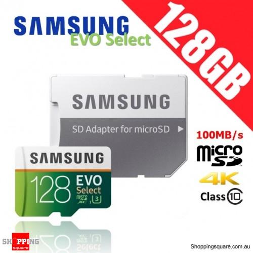 Samsung 128GB up to 48MB/s, eVO, class 10 Micro sdxc Card with