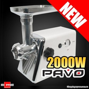 Pavo Electric Meat Grinder with Reverse Function - NEW 2000W Max Power