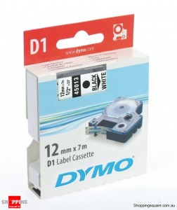 DYMO D1 Tape 12mmx7m- Black on White