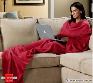 My Cuddlee Blanket with Sleeves - Burgundy