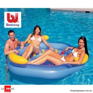 Bestway Inflatable Designer Pool Lounge for up to 3 Persons