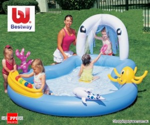 Bestway Inflatable Play Pool Center with 6 Game Balls