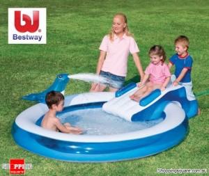 Bestway 2.3M Inflatable Seal Slide Pool