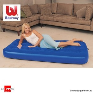 Bestway Inflatable Flocked Air Mattress /Single Bed