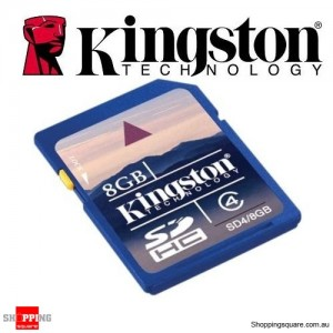 Kingston 8GB SD Card SDHC - High Speed Class 4