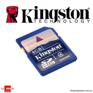 Kingston 4GB SD HC Card SDHC Memory - High Speed Class 4