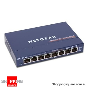 Gigabit  Port on Netgear Gs108 8 Port Gigabit Ethernet Switch   Code  Lan Ntg Gs108