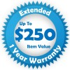 Blue Extended 1 year Warranty for up to $250
