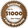 Brown Extended 1 year Warranty for up to $1000