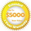 Gold Extended 1 year Warranty for up to $5000