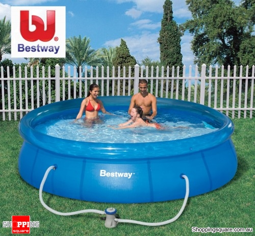 Bestway Fastset Large 366x76cm Inflatable Outdoor Pool