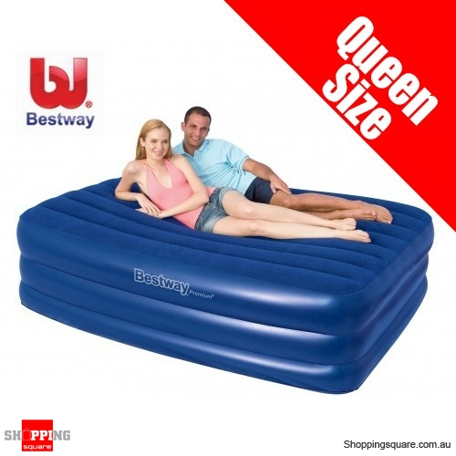 Bestway Flocked Ergo-bed/Queen Size Air Bed with Pump