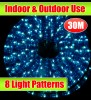 30M Blue Outdoor Christmas Rope Light With 8 LightShow