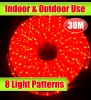 30M Red Outdoor Christmas Rope Light With 8 LightShow
