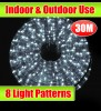30M White Outdoor Christmas Rope Light With 8 LightShow