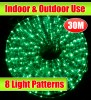 30M Green Outdoor Christmas Rope Light With 8 LightShow