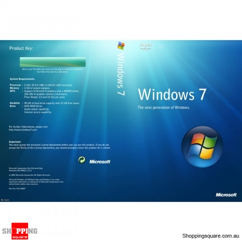 Microsoft Windows Pro 7 32-bit English