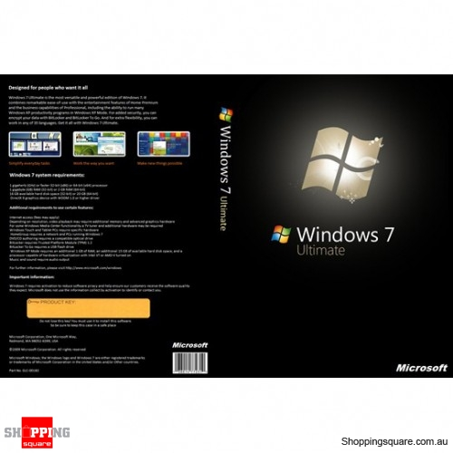 Microsoft Windows 7 Ultimate 32 64 Bit Upgrade Package Dvd English