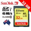 Sandisk Extreme SDHC 32GB 45MB/S Class 10 UHS-I UHS-1 HD Video Memory Card, SD Card, SDHC Card