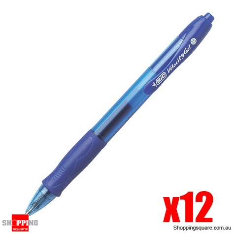 Bic Velocity Gel Pen Blue Packet of 12
