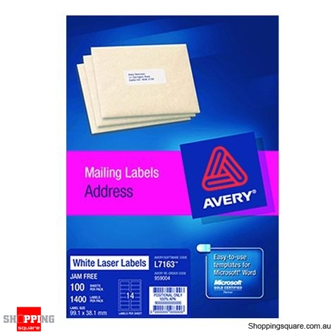 Avery White Address Labels 99.1 x 38.1mm 1400 Labels