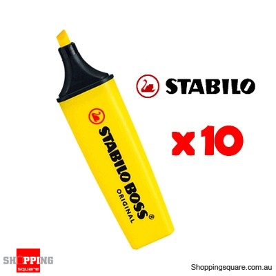 Stabilo Boss Super Plus Highlighters Yellow Pk/10