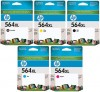 Genuine HP Ink Cartridges No.564XL High Yield set 5 cartridges