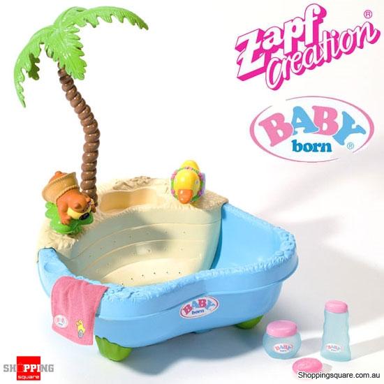 Baby Born Bathtub: ZAPF CREATION Baby Born Doll Accessories Bubbling Fun Bath