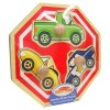 MELISSA & DOUG Stop Sign Vehicles Wooden Jumbo Knob Puzzle