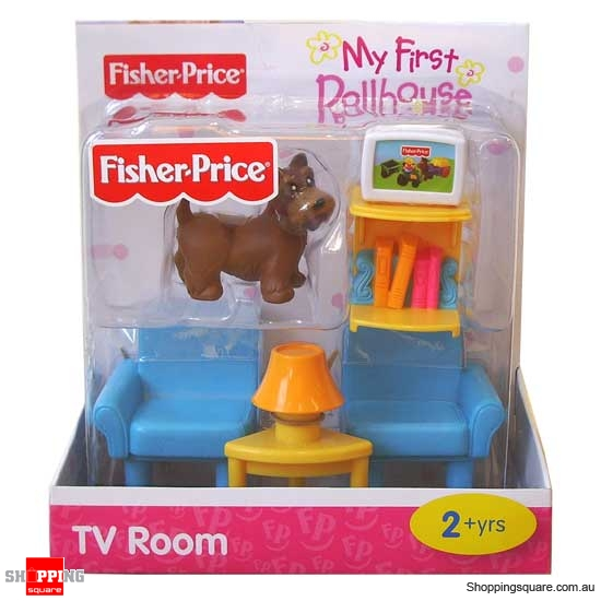 Fisher Price My First Dollhouse Furniture Tv Room Online Shopping