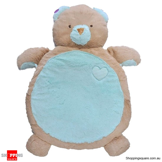 FUZZY FACTORY Plush Mint Bear Baby Mat