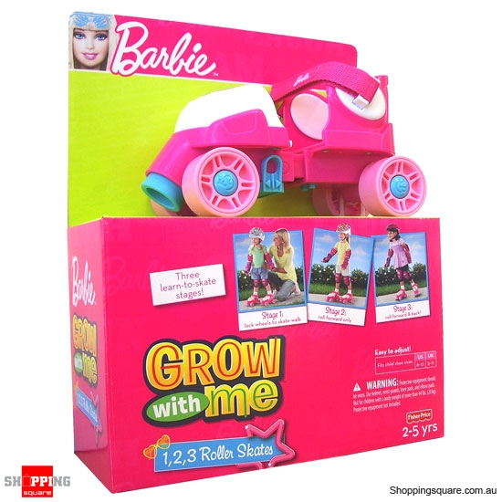FISHER PRICE Barbie Grow with Me 123 Roller Skates