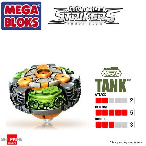 Mega Bloks Battle Strikers Turbo Tops Reload Striker Tank ...   Tank Battle Strikers