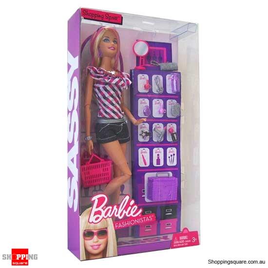 Barbie fashionistas sassy shops for makeup doll 3