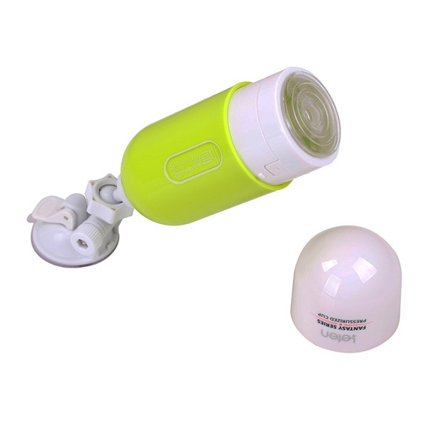 Men's 360 Degree Illusory Space Air Hand-free Vagina Pussy Real Masturbator Adult Sex Toy Green Colour
